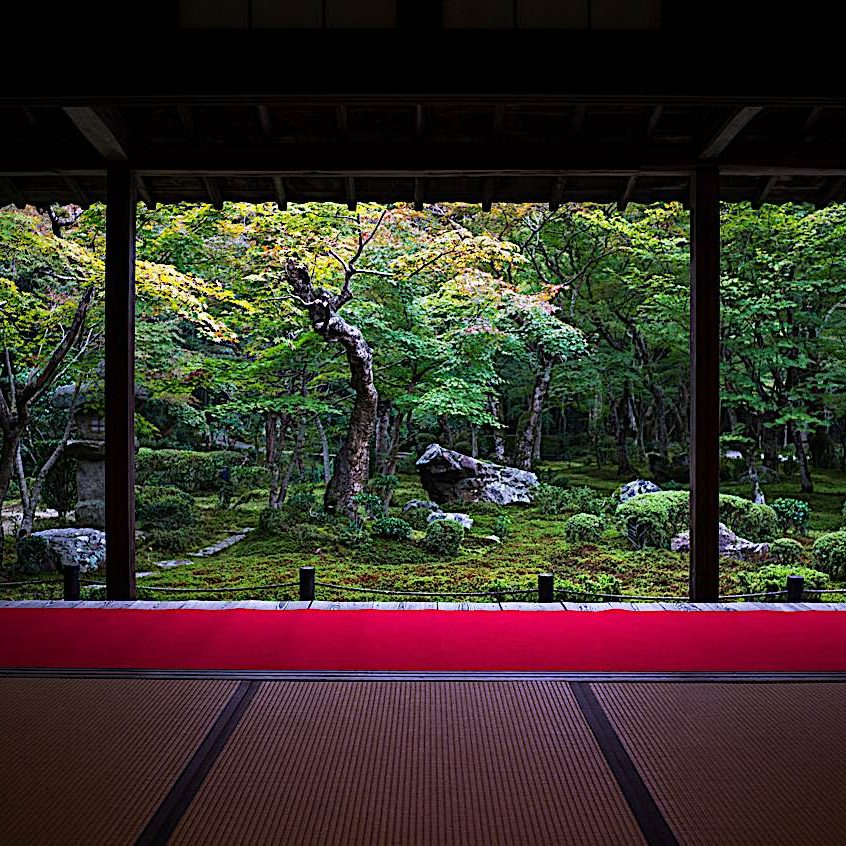 A serene space with zen garden would be a wonderful meditation room, but ultimately all you need is a little personal space and privacy for quiet contemplation.