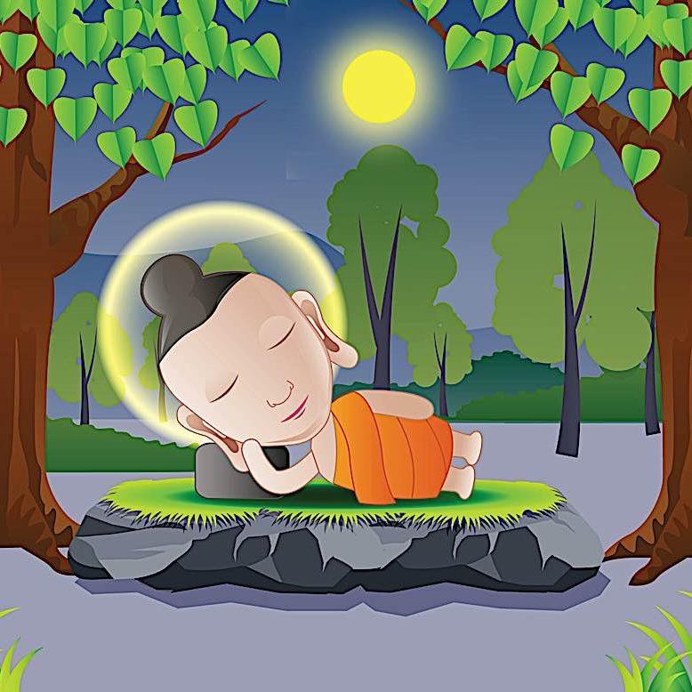 Buddha-Weekly-buddha sleeping forest-Buddhism