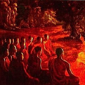 Buddha teaching.