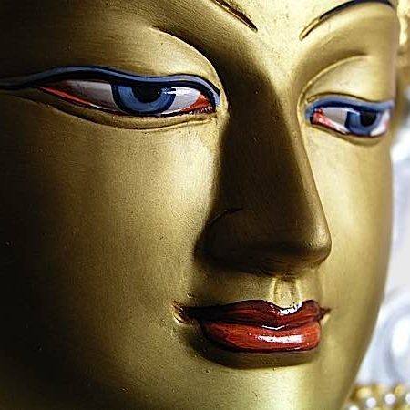 The very face of compassion, Metta personified in glorious Avalokiteshvara, the compassionate Buddha.