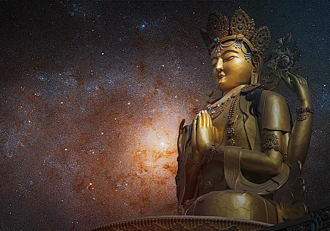 Chenrezig is the Bodhisattva of Compassion and Loving Kindess.
