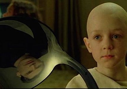 "Scene from The Matrix. ""There is no spoon."""