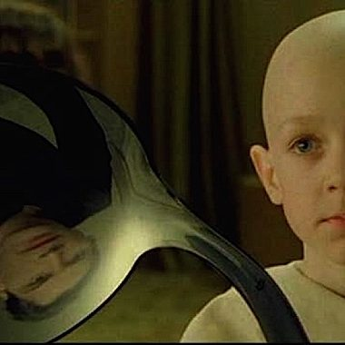 """Scene from The Matrix. """"There is no spoon."""""""