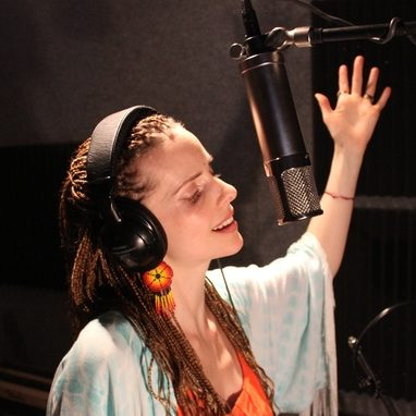 Yoko Dharma in the recording studio.