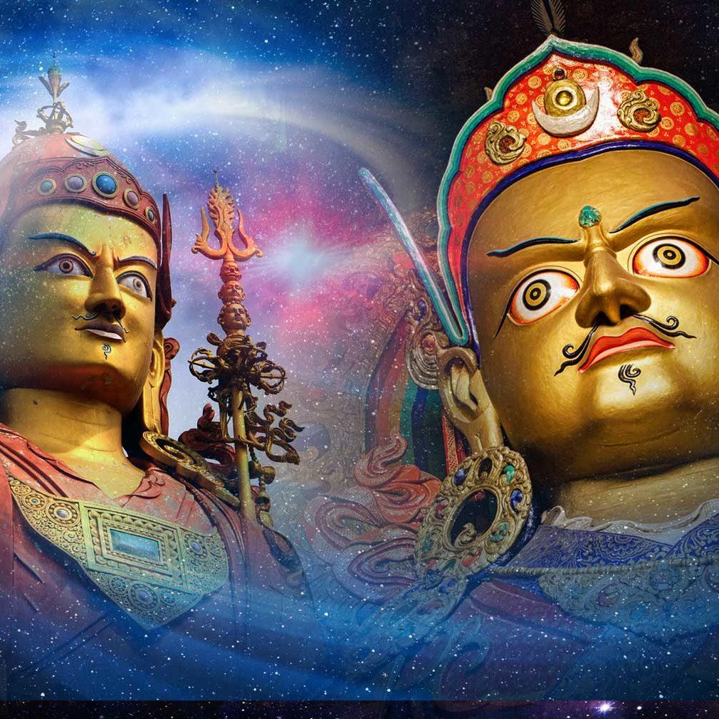 Guru Rinpoche, the Quantum Buddha. Padmasambhava's eight emanations represent eight Quantum energies.