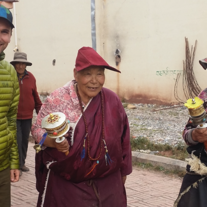 Shea of The Prayer Wheel Shop Meets Two Nuns